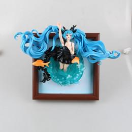 Wholesale Free Kids Photo Frames - Free Shipping Hatsune Miku Photo Frame Deep Sea Miku Action Figure Cute Miku Doll PVC ACGN figure Toy Brinquedos Anime 23CM
