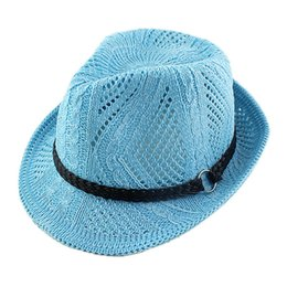 Wholesale Wholesale Apparel For Women - Wholesale-Min Order $10 Fashion New 2015 Designer Lackblue Red Beige Straw Novelty Weave Summer Sun Hats Apparel Accessories For Women
