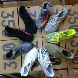 Wholesale Mens Soles - 8 colors SPLY 350 V2 boost Semi Frozen gum sole zebra cblack red running shoes boost mens Sneakers US size 6-12.5