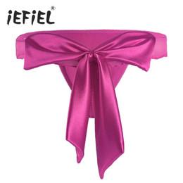 Wholesale Satin Bikini Panties Lingerie - 2017 Women Lingerie Sheer Ruffled G-string Bikini Underwear with Back Ribbon With Big Beautiful Satin Bowknot Women's Panties