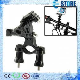 Wholesale Gopro Bike Holder - Xiaomi Yi Gopro Accessories Sport Camera Aluminum Bike Bicycle Handlebar Mount Holder Adapter For Gopro Hero 4 3 3+ SJ4000