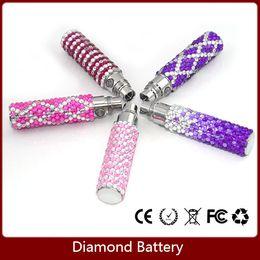 Wholesale Electronic Cigarette Batteries Diamond - Ego T Bling Battery 650mAh,900mAh,1100mAh Ego-T Colorful Luxury Diamond Shinning Batteries For E Cig Electronic Cigarette E cigarette