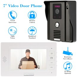 """Wholesale Touch Screen Video Intercom Doorbell - Home Security 7"""" TFT Touch Screen LCD Color Video Doorbell Intercom System Night Vision Camera Doorphone Remote Control, Surveillance"""
