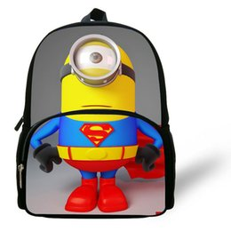 Wholesale Despicable Minion Inches - 12-inch Mochilas School Kids Despicable Me Minions Bag Cartoon Boys Bags Children School Backpacks Minions Print