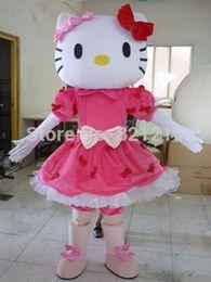 Wholesale Mascot Kitty - Hot! Mlle bonjour Kitty Mascot Costume taille bonjour Kitty Costume de mascotte + livraison gratuite