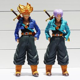 Wholesale Action Figure Packaging - Dragon Ball Z Super Saiyan Trunks PVC Action Figure Collectible Model Toy 24~26cm 2style Selectable Box Packaged Free Shipping