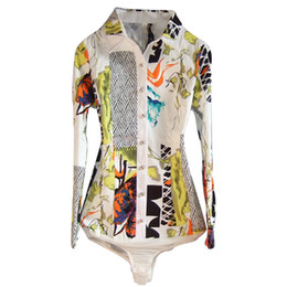 Argentina Camisa de mujer blusa estampado de algodón Body manga larga Camisas formales Mujer túnica Mujeres Blusas de cuerpo Casual Tops más tamaño # B018 Suministro