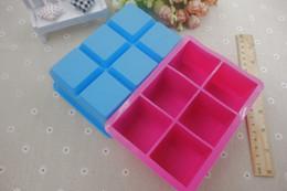 Wholesale Ice Maker Factory - six square chunks of ice lattice box Ice lattice mold silicone brick mold silico ice mold factory price