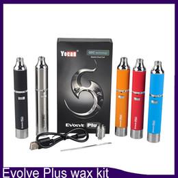 Wholesale Silicon Stocks - Evolve Plus Kit 1100mAh Battery Quartz Dual Coil QDC E Cigarette Kits All 5 Colors In stock clone 0266119