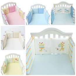 Wholesale Bedding Set Bumper - 6pcs set Cartoon Animal Crib Bumper Baby Bed Bumper in the Crib Bumper Baby Bed Protector Crib Bumpers Newborn Bedding Sets CCA8154 10set