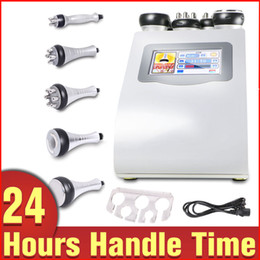 Wholesale Slimming Machine Salon - Free Shipping 5in1 Ultrasonic Liposuction 40k Cavitation Vacuum Multipolar RF Laser Slimming Radio Frequency Skin Body Salon Machine