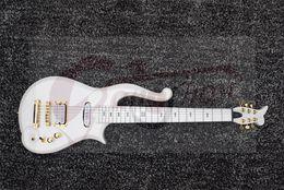Wholesale Diamond Black String - Rare Schecter Diamond Series Prince White Cloud Electric Guitar Single Coil Neck Pickup One Piece Maple Neck Black Symbol Fingerboard Inlay