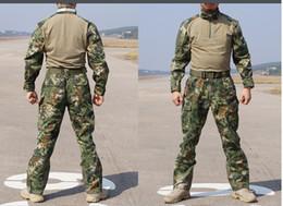 Wholesale Tactical Camo Uniforms - Chiefs Rattlesnake Camo Tactical SEAL TEAM MANDRAKE Set Shirt & Pants Uniform Kryptek style Man Snake Combat Gen2 G2 training suit