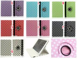 Wholesale Tablet Cover Polka Dot - 360 degree Rotating Rotary Snake Croco Polka Dot Bubble Circle Leather Wallet Case pouch For Ipad Pro 12.9'' tablet Bag Colorful Stand Cover