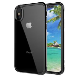 Wholesale Phone Protective Cases - For iPhone X 7 8 Plus Phone protective Cases best Acrylic Silicone TPU PC Coque 2 in 1Hybrid Clear Cover Case bumper