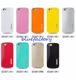 Wholesale Slim Armor Iphone 4s - KIKI Luggage Carrier Shock Proof Hybrid Slim Armor Case For Iphone 4s 5s iphone 6 4.7'' 5.5 inch