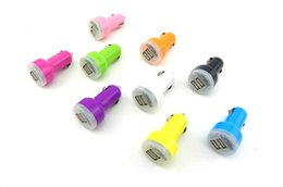 Wholesale Apple Dc - Brand New Dual 2 Port USB Car Charger 12v DC for iPad iPhone 4G i 2A HTC EVO 4G 200pcs lot Free D