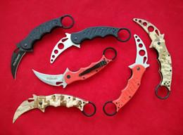 Wholesale Best Hunting Knife Steel - Best Quality edition Fox Knives Karambit Folder Knife 440C steel G10 handle 478 Trainer Karambit 479TK tactical Pocket knife knives