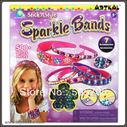 Wholesale pc sparkle bands msaic puzzle diy mosaic by numbers kits educational toys great fun