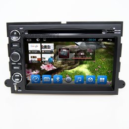 Wholesale Dual Screen Car Dvd - Double din gps car dvd navigation sytem built in radio rds bluetooth dual core for ford explorer mustang fusion expedition