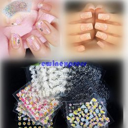 Wholesale Designs Nails Flowers - Hot Sale 50 SHEET 3D NAIL ART TIPS DESIGN STICKERS MIX FLOWER MULTI COLOUR DECAL STYLE