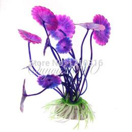 2016 NOUVEAU Violet Artificielle Vivid Plastic Aquarium Décorations Plantes Herbe aquarium Fleur Ornement des animaux aquatiques Accessoires ? partir de fabricateur
