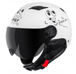 Wholesale Helm Scooter - Wholesale-Free Shipping Andes-X333-N Fashion Winter Style Warm Street Safety Helm Scooter Motorcycle Gloss Pink Cat Helmet & UV Lens