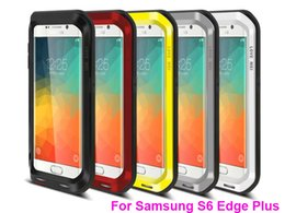 Wholesale Galaxy Case Gorilla Glass - Original Love Mei Shock Waterproof Metal Aluminum Cover Gorilla Tempered Glass Cases For galaxy S5 S6 S6 edge plus Note 5 4 3 iPhone 6 PLUS