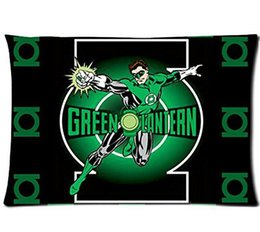 Wholesale Green Lantern Casing - Custom Pillowcase Cartoon Green Lantern Best 20x30 Inch Pillow Cases