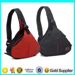 Wholesale Lenses Body - Brand Design DSLR SLR Digital Sling Camera Bag Shoulder Bag for NIKON CANON SONY Waterproof Bags Cross body Travel Bag