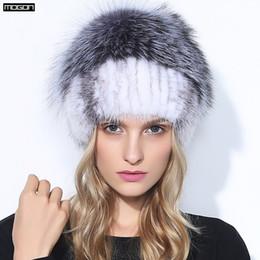 Atacado- Mulheres Oferta Especial Tempo-limitado Adulto Novos Chapéus De  Pele Para o Inverno Genuine Mink Cap Com Fox Pom Poms Gorros De Malha 2017  Venda à ... f5f31b434a9