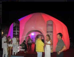 Wholesale Show Tents - 6m Inflatable Lighting Dome Tent for Promotion Show with Light