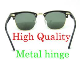 Wholesale Metal Sights - High Quanlity Sun glasses Metal hinge Sunglasses Plank black Sunglasses black sun glasses mens sunglasses womens glasses glitter2009