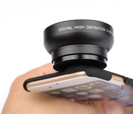 Wholesale Iphone 4s Lens Kit - Wholesale-37mm 0.45X HD Super Wide Angle + Macro Lens Camera Lens Kit + Back Case For iPhone 6 Plus 6 5S 5 4S Samsung Note4 3 2 S6 S6 Edge