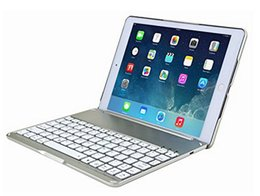 Wholesale Bluetooth Keyboard Folio Case - Wireless Bluetooth Keyboard Ultra Slim Aluminium Folio Wireless Bluetooth Keyboard Carrying Stand Case Cover for Apple iPad Air 2 F8S