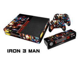 Wholesale Iron Man Decal - IRON MAN 3 0115 Fashion Skin Decal For Xbox one Console and 2PCS Xbox one Controller Skins Stickers