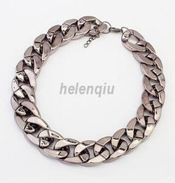 Wholesale Ccb Chain - European and American fashion simple big influx of goods ccb rough gilt chain necklace necklace wild