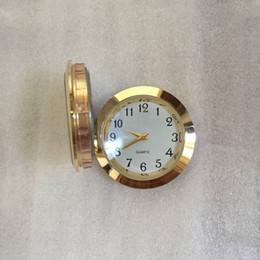 Wholesale Wholesale Clock Inserts - 37mm insert clock most popular used standand size arabic mini 37mm gold metal insert clock fit up clock