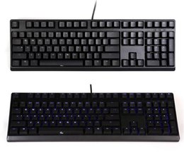 Wholesale Cherry Mx Blue Keyboard - Wholesale-DHL Ducky DK2108S Zero Mechanical Keyboard Gaming Blue Backlight Backlit Cherry MX Black Blue Red Brown Switches