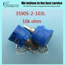 Wholesale Ohm Adjustable - Wholesale-3590S-2-103L 3590S 10K ohm Precision Multiturn Potentiometer 10 Ring Adjustable Resistor