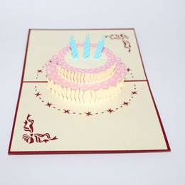 Wholesale New Handmade Birthday Cards - New 3d handmade birthday gift card for kids 3d lovely greeting card cute post card IC914