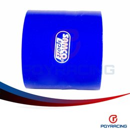 """Wholesale Pipe Intercooler - PQY STORE-BLUE 3.0"""" 76mm Straight Silicone Intercooler Turbo Intake Pipe Coupler Hose PQY-SH0030"""