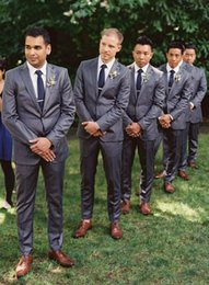 Wholesale Reference Label - Custom Made Two-Button Trim Fit Groom Tuxedos Peaked Label Best Man Suit Wedding Suits Three-piece Designer Bridegroom (Jacket+Pants+Tie)