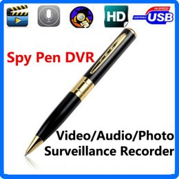 Wholesale Pen Hidden Video Camera - High Quality Spy Pen Camera Spy Pen DVR Video Sound Recorder with Micro SD Card Camera Hidden Microphone DVR