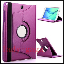 Wholesale Galaxy S S2 - 360 Rotating PU Leather Case Smart Cover Stand For Samsung Galaxy tab 4 S S2 E A T280 T810 T710 T350 T560 T377