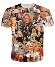 Wholesale Sexy Hollywood Woman - 2015 New Arrive Women's Clothes Fashion 3d t shirt Amy Poehler Paparazzi T-Shirt hilarious roles in Hollywood Sexy tee shirts