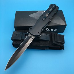 Wholesale 58 Hrc - BM 3300 Infidel (McHenry Design) Black Double Blade (58-61 HRC) Spear Point Black Nylon Sheath Camping knife pocket knife knives 3310BK