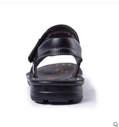 Wholesale Big Bottom Sandals - Wholesale-Free shipping Hot summer 2015 shoes big boy cowhide leather sandals soft bottom tide
