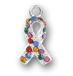 Wholesale Ribbon Autism - fashion mulcolour Autism Awareness ribbon charms