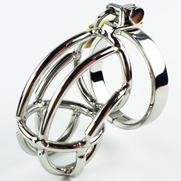Wholesale Bondage Fetish Device - The Hottest Chastity Men's Cock Cage Stainless Steel Ring Adult BDSM Sex Product Bondage Fetish Chastity Belt Device